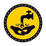 Le symbole se lavent les mains isolent svp sur le fond blanc, illustration de vecteur illustration libre de droits