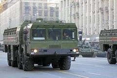 Le système de missile balistique mobile d'Iskander Image stock