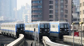 Système de monorail de Chongqing photos libres de droits