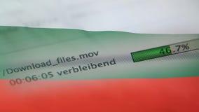 Le téléchargement introduit sur un ordinateur, drapeau de la Bulgarie clips vidéos