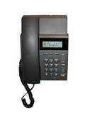 le téléphone à la maison noir, cadran numérote le panneau, instruction-macro Photo stock