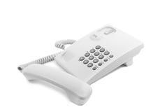 Le téléphone blanc Images libres de droits