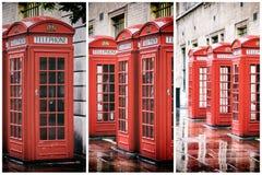 Le téléphone de jardin de Covent enferme dans une boîte le triptyque Images libres de droits