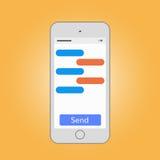 Le téléphone portable massant avec envoient Images libres de droits