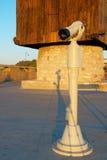 Le télescope au sujet d'un moulin à une entrée à Nessebar, Bulgarie Images libres de droits