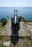 Le télescope a visé le paysage de mer image stock
