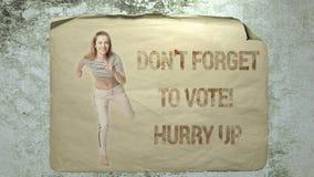 Le ` t de Don oublient de voter ! Dépêchez-vous  banque de vidéos