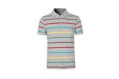 Le T-shirt barré des hommes Image stock