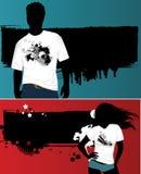 Le T-shirt de la femme et de l'homme. Images libres de droits