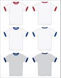 Le T-shirt de sonnerie trace les grandes lignes du vecteur Images stock