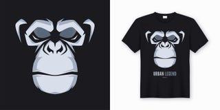 Le T-shirt et l'habillement de vecteur conçoivent, impriment, affiche avec le fac dénommé illustration de vecteur
