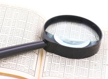 Le Tabelle ed i numeri ingrandicono Immagini Stock