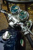 Le tableau de bord d'une moto Laverda 750 SF Photographie stock libre de droits