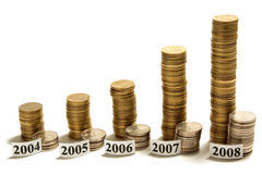 Le tableau de l'argent. Photo stock