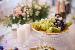 Le Tableau a placé pour une réception ou un mariage d'événement Images libres de droits