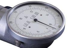 Le tachymètre, vieux T/MN parent montrer zéro, chemin de coupure Photo stock