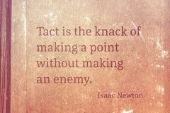 Le tact est Newton Image stock