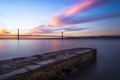 Le Tage au coucher du soleil Photo stock