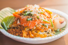 Le tagliatelle tailandesi del cuscinetto tailandese tradizionale dell'alimento Fotografia Stock Libera da Diritti