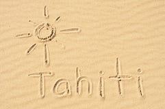 Le Tahiti dans le sable images libres de droits