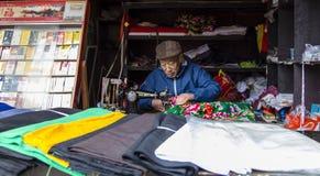 Le tailleur dans Huanglongxi, Chengdu, porcelaine Photographie stock libre de droits