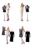 Le tailleur de femme d'isolement sur le blanc Photos stock
