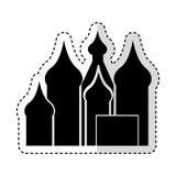 le Taj Mahal a isolé l'icône illustration libre de droits