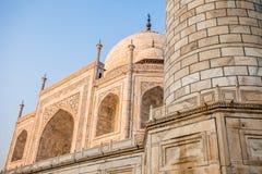 Le Taj Mahal, monument historique célèbre d'A, monument d'A de l'amour, la plus grande tombe de marbre blanche dans l'Inde, Âgrâ,  Images stock