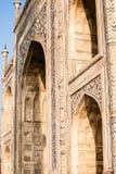 Le Taj Mahal, monument historique célèbre d'A, monument d'A de l'amour, la plus grande tombe de marbre blanche dans l'Inde, Âgrâ,  Photographie stock
