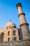 Le Taj Mahal, monument historique célèbre d'A, monument d'A de l'amour, la plus grande tombe de marbre blanche dans l'Inde, Âgrâ,  Image libre de droits