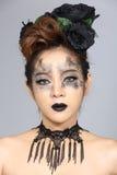Le talent créatif de fantaisie composent et coiffure sur beau asiatique Images libres de droits
