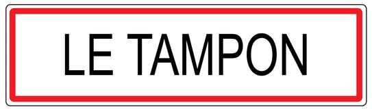 Le Tampon city traffic sign illustration in France Royalty Free Stock Images
