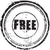 Le tampon en caoutchouc avec le texte libèrent Images libres de droits