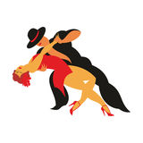 Le tango de danse Photos stock