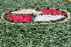 Le tapis de la fleur Images libres de droits