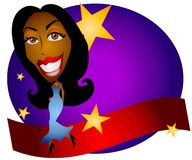 Le tapis rouge Stars la célébrité illustration libre de droits