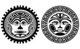 Le tatouage a dénommé des masques illustration de vecteur