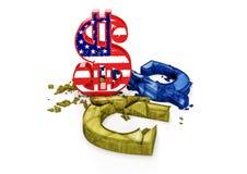 Le taux de change du hryvnia ukrainien est chute Photographie stock