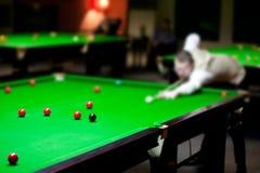 Il club dello snooker Fotografia Stock Libera da Diritti