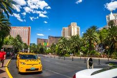 Le taxi d'hôtel et de casino de mirage prennent le secteur Images libres de droits
