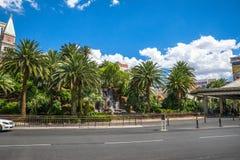 Le taxi d'hôtel et de casino de mirage prennent le secteur Photo libre de droits