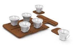 Le tazze Immagine Stock
