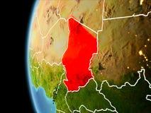 Le Tchad de l'espace dans la soirée illustration libre de droits