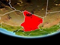 Le Tchad en rouge le soir Images libres de droits