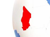 Le Tchad sur le globe Photos stock