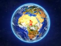 Le Tchad sur terre de l'espace illustration libre de droits