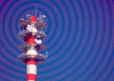 Le Telecomunicazioni Fotografia Stock