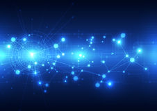 Le Telecomunicazioni future astratte fondo, illustrazione di tecnologia di vettore Immagine Stock Libera da Diritti