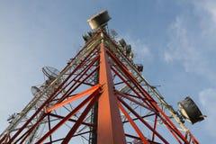 Le Telecomunicazioni Palo Fotografie Stock