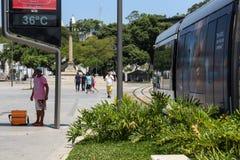 Le temperature in Rio de Janeiro rimangono superiore a 40 gradi Fotografia Stock Libera da Diritti
